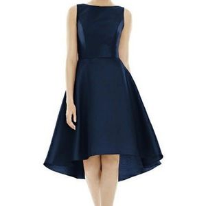 Alfred Sung blue Short Hi Low cocktail Dress 8780